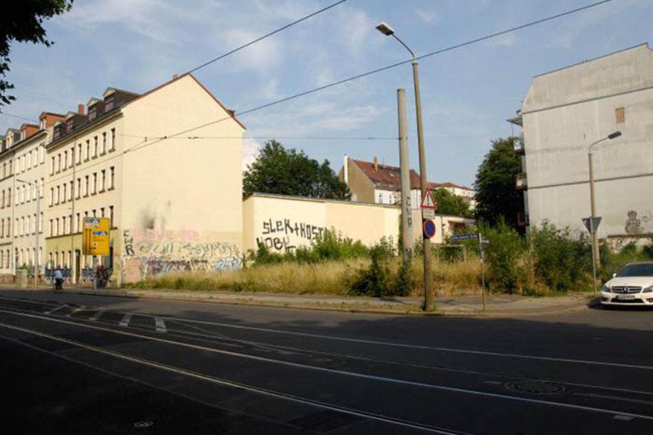 Auf der Käthe-Kollwitz-Straße im Leipziger Zentrum werden Kanäle und Schienen erneuert.