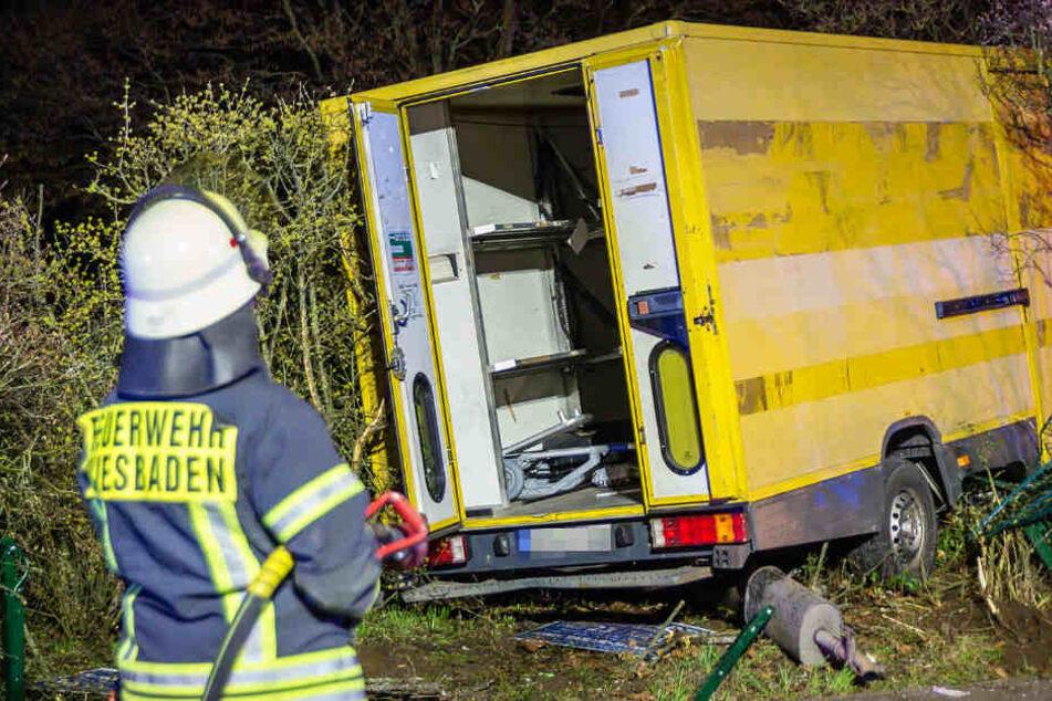 Auf diesem Foto ist der Unfall in Mainz-Kostheim zu sehen.
