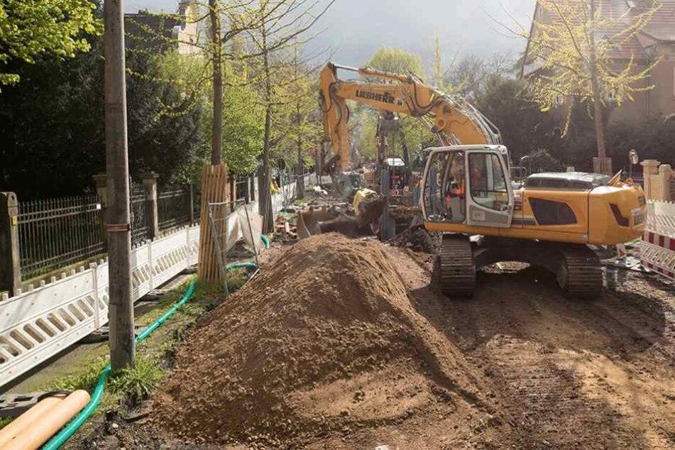 Am Mittwoch werden die Bauarbeiten an der Oskarstraße eingestellt.