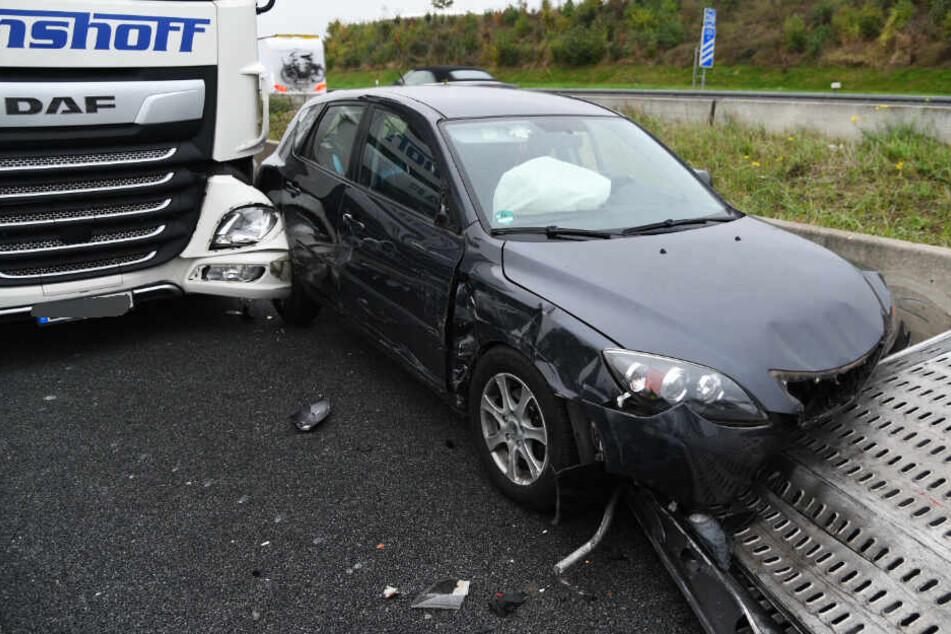 Das am Unfall beteiligte Auto.