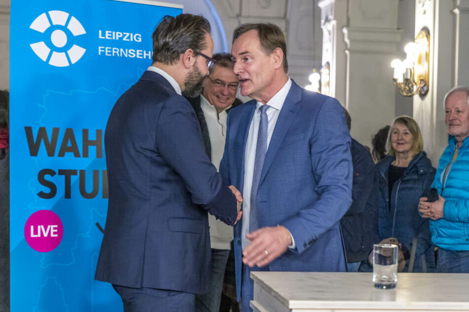 Jung und Gemkow nach Verkündung des Wahlergebnisses.