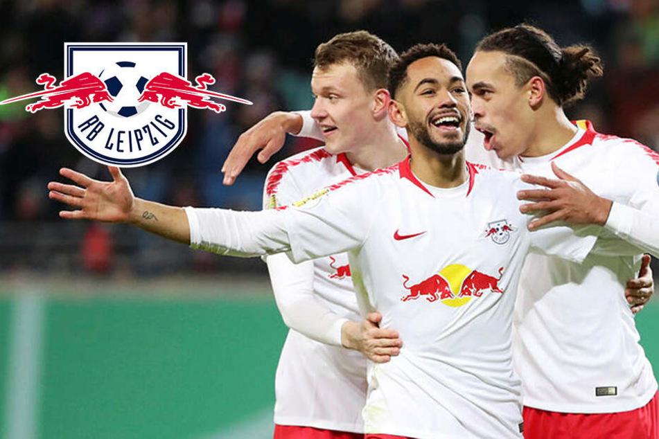 DFB-Pokal: RB Leipzig schlägt Wolfsburg und steht erstmals im Viertelfinale