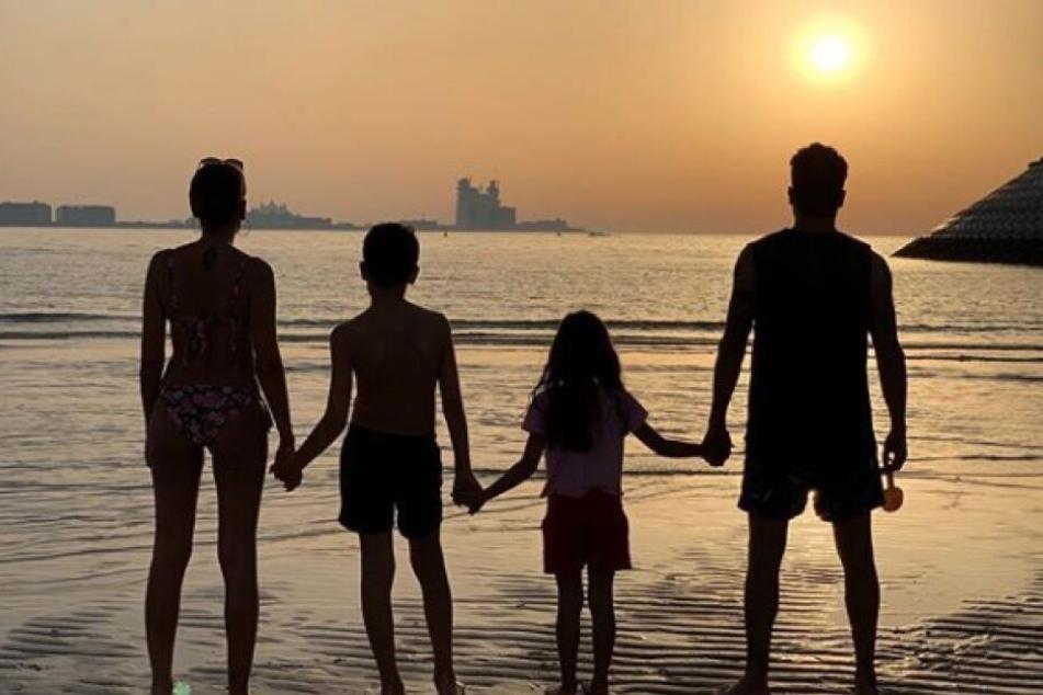Zu Ostern postete das TV-Paar ein Foto der gesamten Familie.