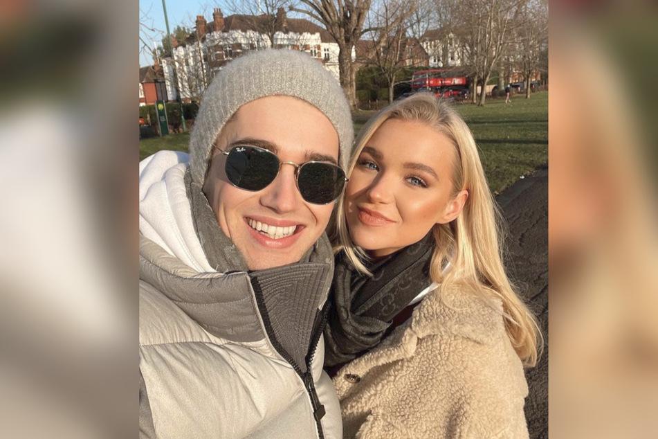 Abbie Quinnen (23) with her boyfriend Alex Joseph Pritchard (26).