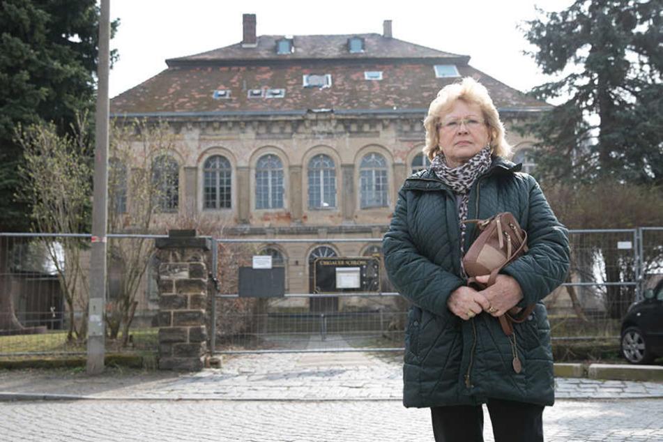Elfriede Schubert (75) lebte als kleines Mädchen auf Schloss Übigau.