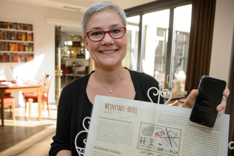 Geschäftsführerin Stéphanie Staudenmayer möchte ihren Gästen eine digitale Auszeit gönnen.