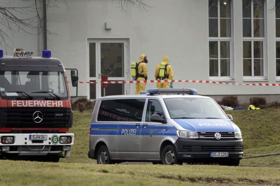 Chemnitz: ABC-Einsatz im Flüchtlingsheim
