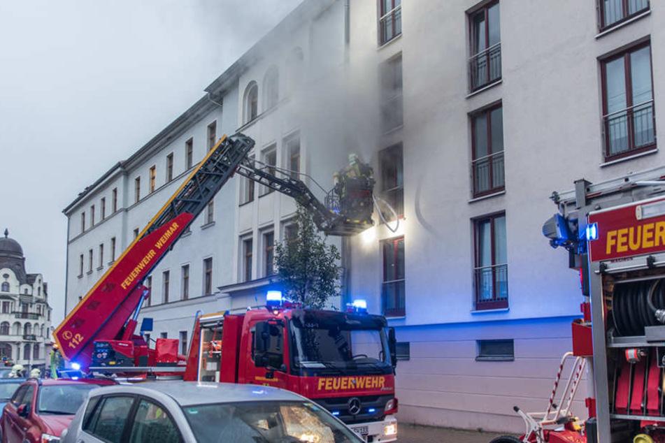 Das Feuer war im ersten Stock des Wohnheims ausgebrochen.