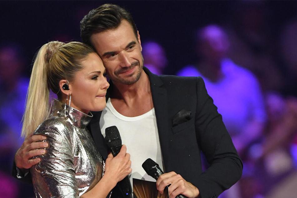 Helene Fischer und Florian Silbereisen liegen sich trotz Trennung in den Armen.