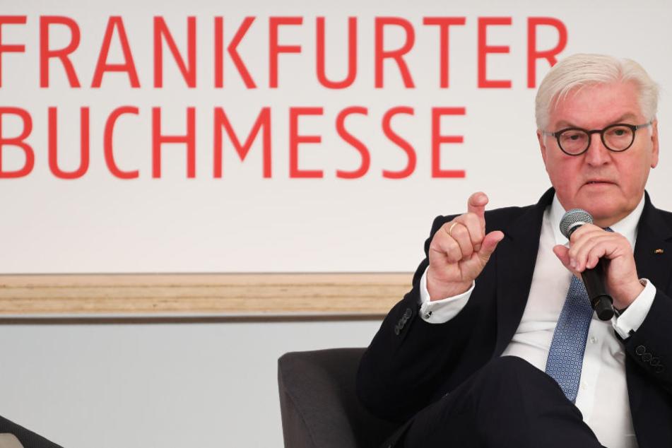 Der Bundespräsident sprach bei seinem Besuch auf der Frankfurter Buchmesse bei der feierlichen Eröffnung des neuen Frankfurt-Pavilions.