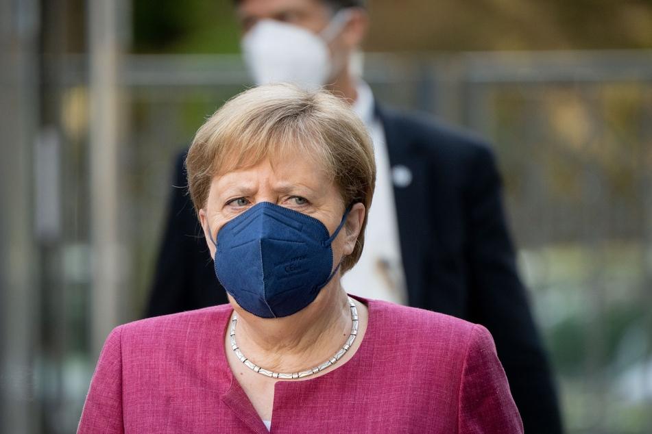 Bundeskanzlerin Angela Merkel (66, CDU) kommt am, Montag zur Klausur der Spitzen von CDU und CSU zur Verabschiedung des Wahlprogramms für die Bundestagswahl.