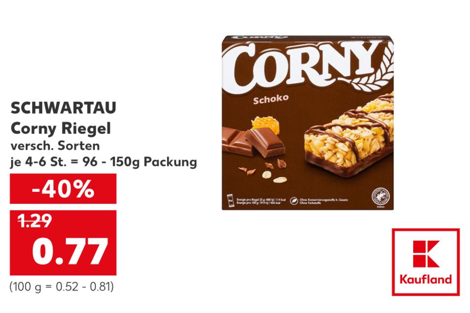 SCHWARTAU Corny Riegel für nur 0,77 Euro.