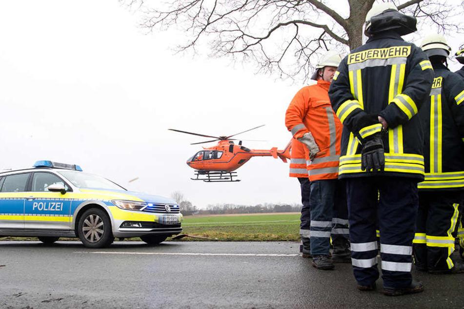 Mit dem Hubschrauber wurde die Schwerverletzte nach Kempten ins Klinikum gebracht. (Symbolbild)