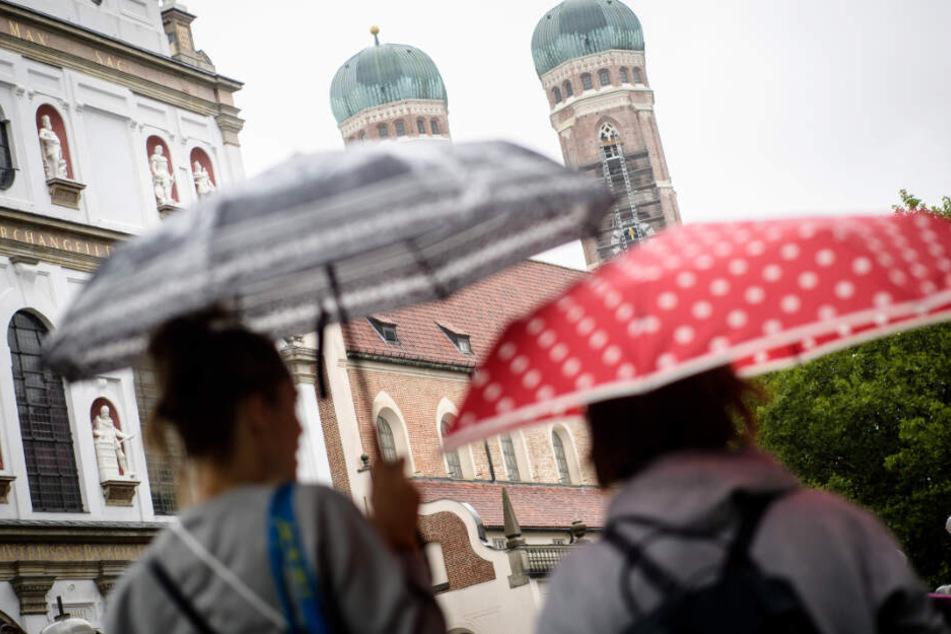 Das Wetter in der Landeshauptstadt München sorgt aktuell nicht wirklich für gute Laune.