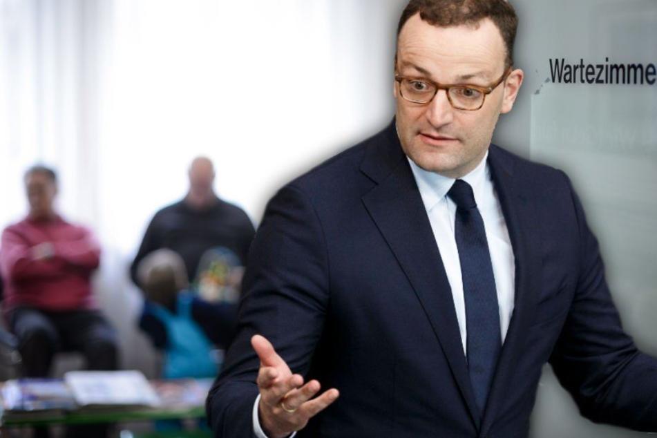Bundesgesundheitsminister Jens Spahn (38, CDU) will die Versorgung von Kassenpatienten verbessern. (Bildmontage)