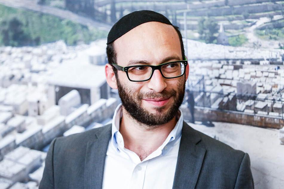 Der Dresdner Rabbiner Akiva Weingarten (34).
