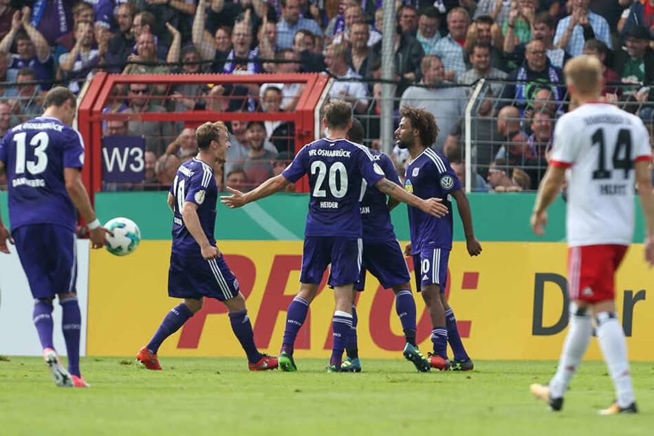 Am Ende musste der HSV jubelnden Osnabrückern zugucken.