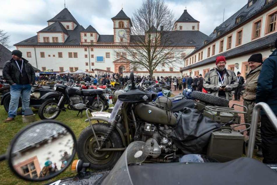 An dem Wintertreffen der Motorradfahrer nahmen rund 1800 Biker teil.