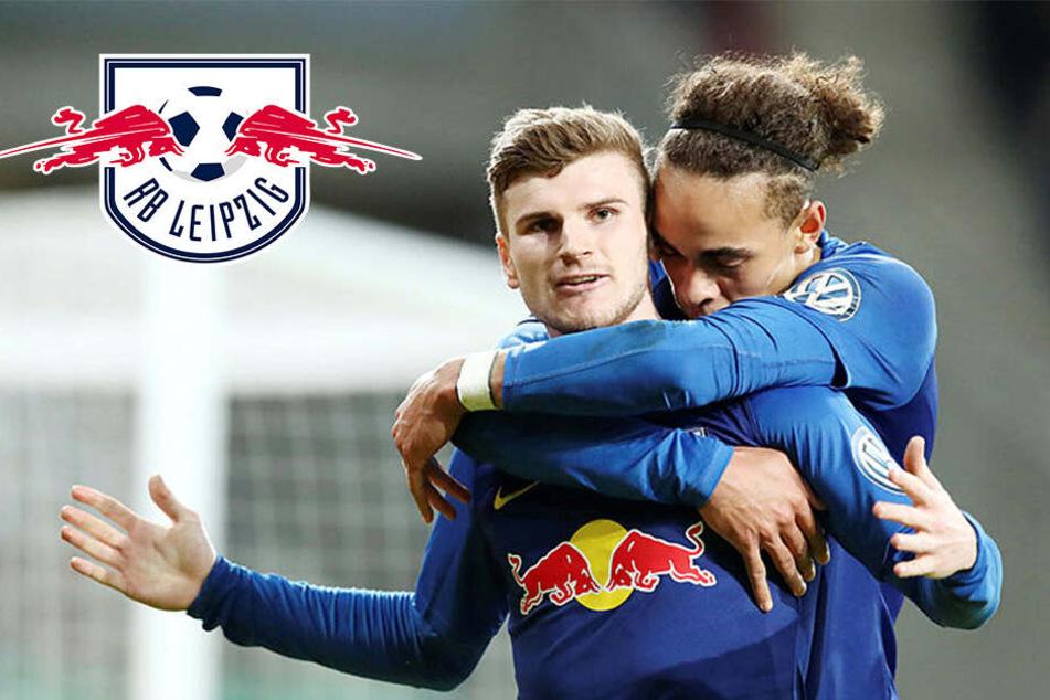 RB Leipzig nach Verlängerungs-Krimi erstmals im Pokal-Halbfinale