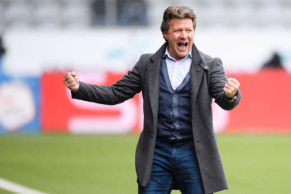 Der 48-jährige Jeff Saibene will den Klassenerhalt mit Arminia Bielefeld unbedingt schaffen.