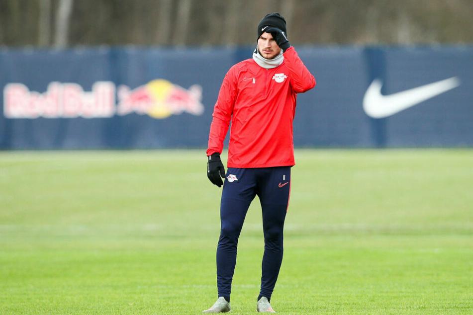 Timo Werner (23) soll von Real Madrid gejagt werden. Am Dienstag musste er sich zunächst im kalten Leipzig warme Gedanken machen.