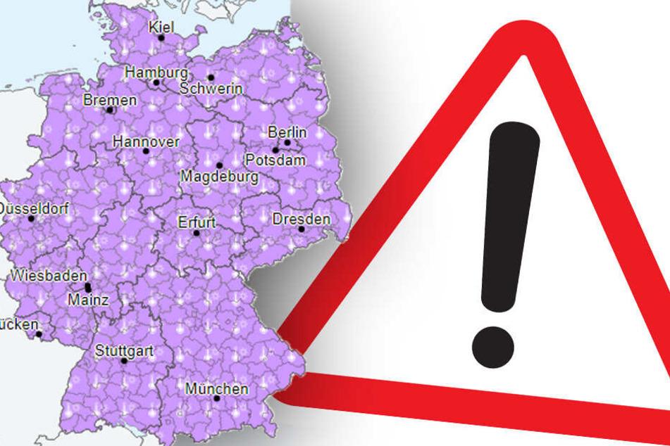 Der Deutsche Wetterdienst warnt vor extremer Hitzebelastung.