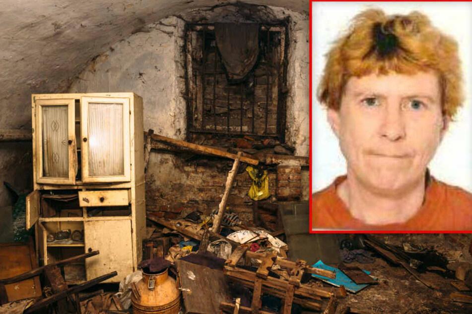 Bildmontage: Die Überreste von Gabriele Smolka wurden vor rund zwei Wochen in einem vollkommen vermüllten Keller in Frankfurt-Bockenheim gefunden.