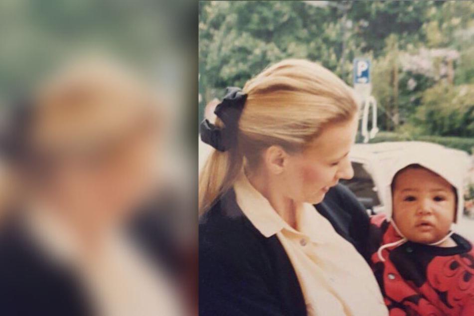 Immer an seiner Seite: Baby Jérôme mit seiner Mama Martina (undatierte Aufnahme).
