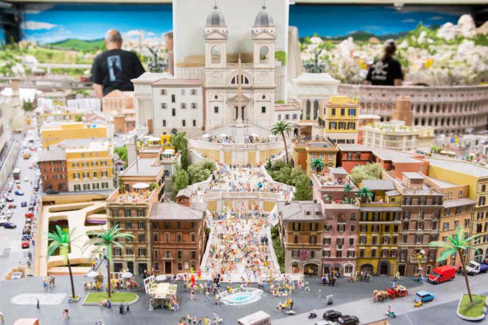 Das Miniaturwunderland in Hamburg ist in mehrere Welten unterteilt. Hier ist Italien zu sehen.