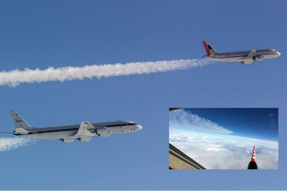 Momentan finden über Deutschland Tests von DLR und NASA statt.