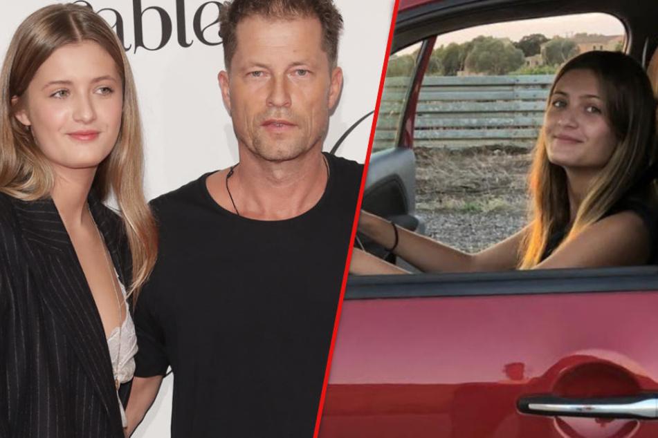 Til Schweiger übt mit Tochter Lilli Autofahren, doch alle achten nur auf ein Detail