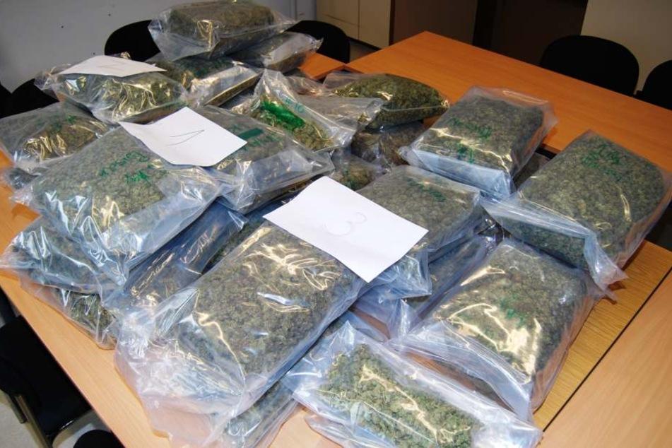 30 Kilo Marihuana wurden insgesamt beschlagnahmt.