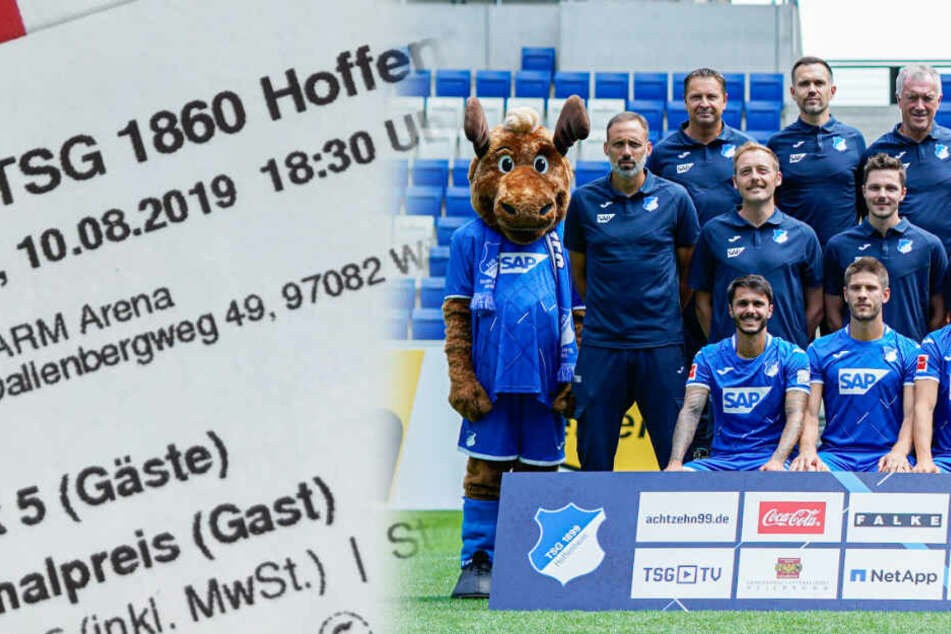 """""""1860 Hoffenheim"""": Würzburger Kickers leisten sich lustigen Ticket-Patzer"""