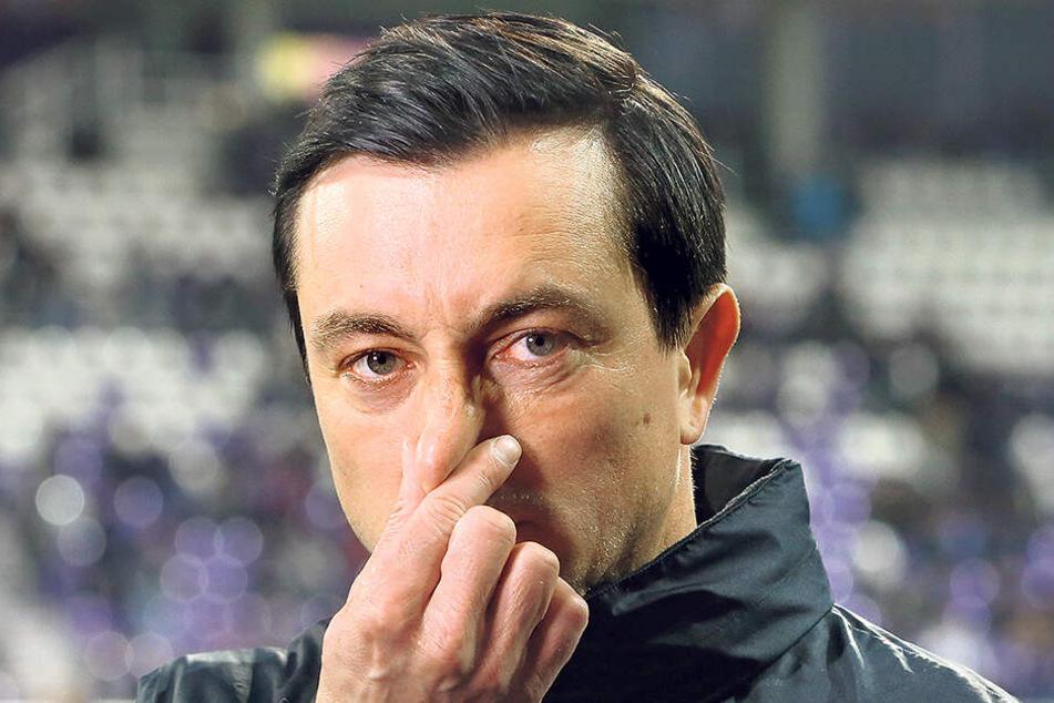 Will am Freitag nicht so skeptisch schauen: FCE-Trainer Daniel Meyer.