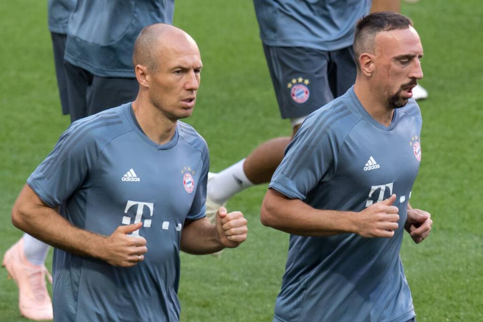 Arjen Robben und Franck Ribéry verlassen den FC Bayern München.