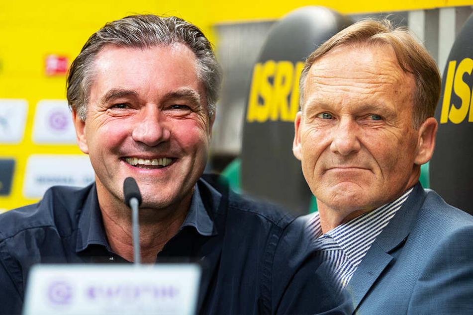 """BVB-Sportdirektor Michael Zorc (l.) und Hans-Joachim """"Aki"""" Watzke haben ganze Arbeit geleistet. (Bildmontage)"""