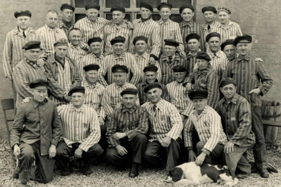 Mitglieder des Restkommandos April/Mai 1945 (Leihgabe der Wachtturm-Gesellschaft der Zeugen Jehovas, Selters Kreismuseum Wewelsburg, Inv. Nr. 16047)