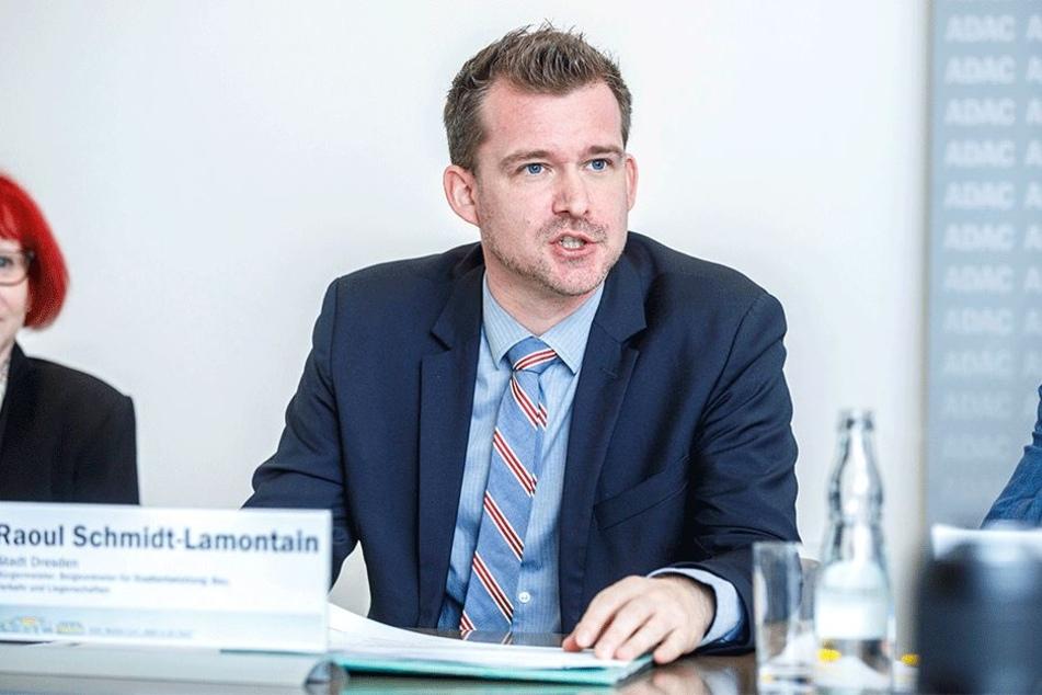 Versucht so viele Autofahrer wie möglich von der Pendelei nach Dresden abzuhalten: Baubürgermeister Raoul Schmidt-Lamontain (41, Grüne).