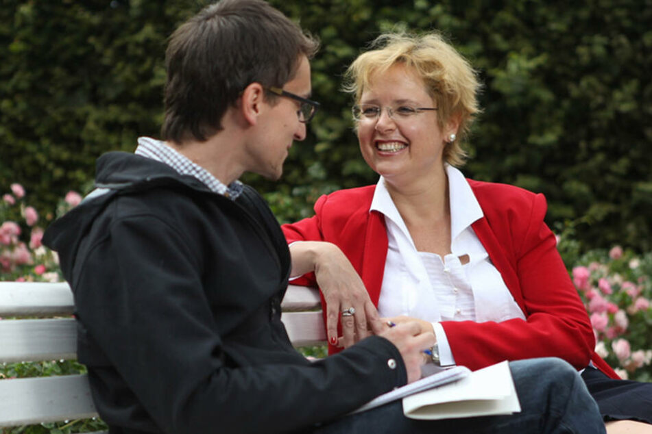 TAG24-Redakteur Dirk Hein bei einem früheren Interview mit Bettina Bunge.