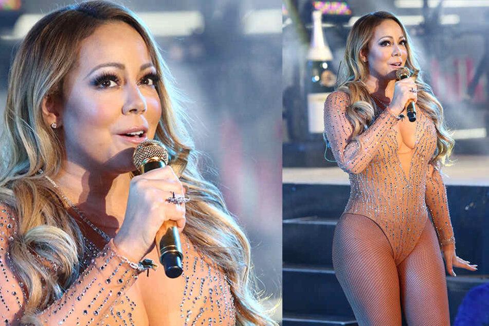 Mariah Carey bei ihrem Silvesterauftritt im Jahr 2017.