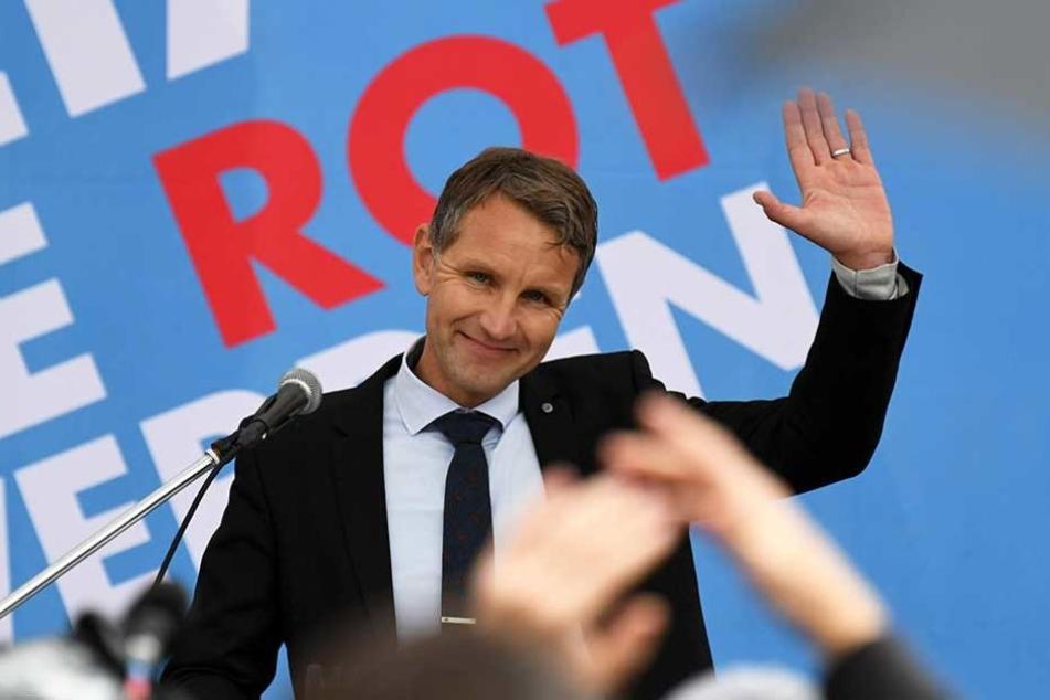 Verkehrte Welt: Bei einer Wahlkampfveranstaltungen wenige Stunden zuvor in Potsdam kamen mehr Gegner als Befürworter.