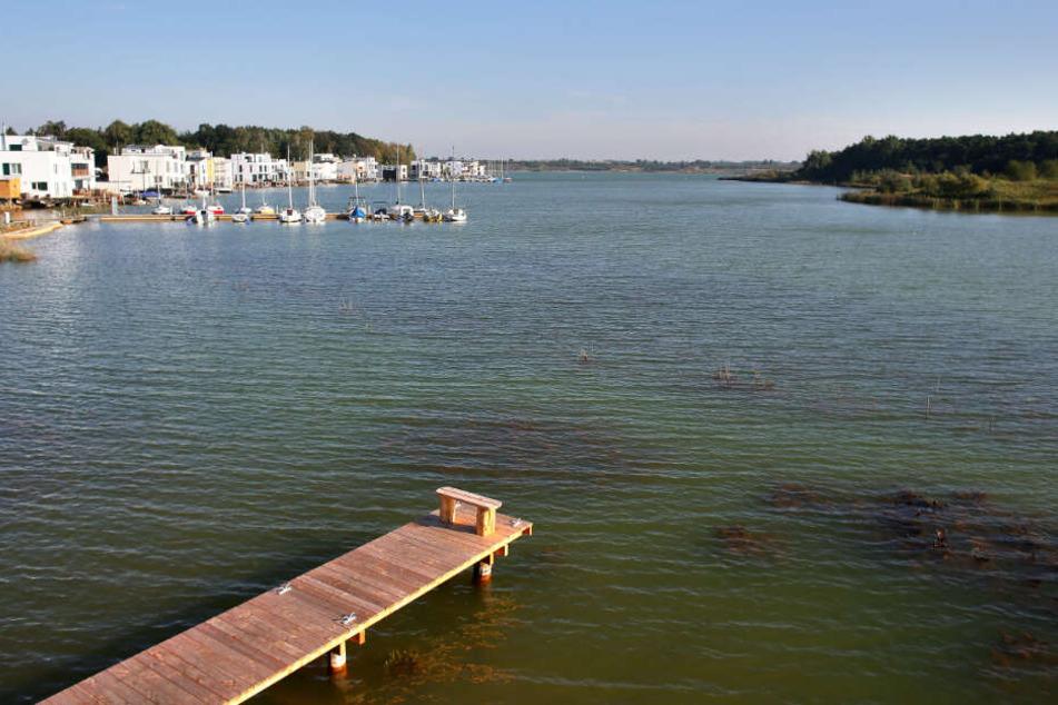 Der 560 Hektar große Hainer See im Süden von Leipzig entstand aus einem gefluteten Braunkohletagebau und wird von einem privaten Investor entwickelt.