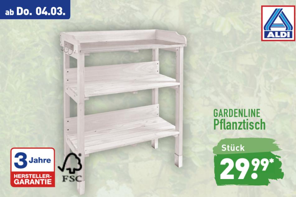 Pflanztisch von Gardenline ab Donnerstag für 29,99 Euro bei ALDI in Genthin