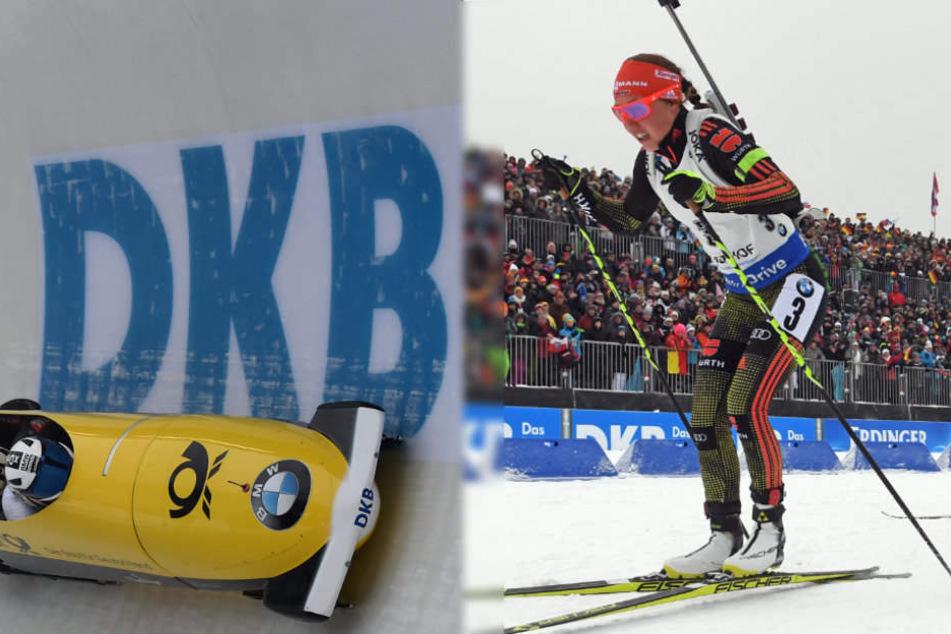 In Altenberg und Oberhof sponsert die DKB die Sportstätten.