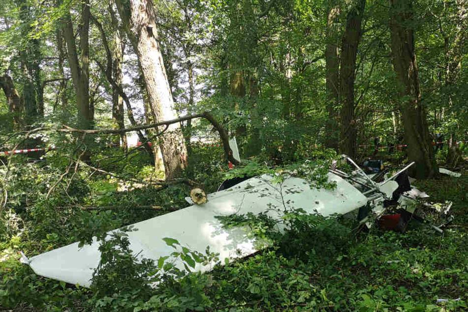 Das Flugzeug verunglückte im Koberstädter Wald.