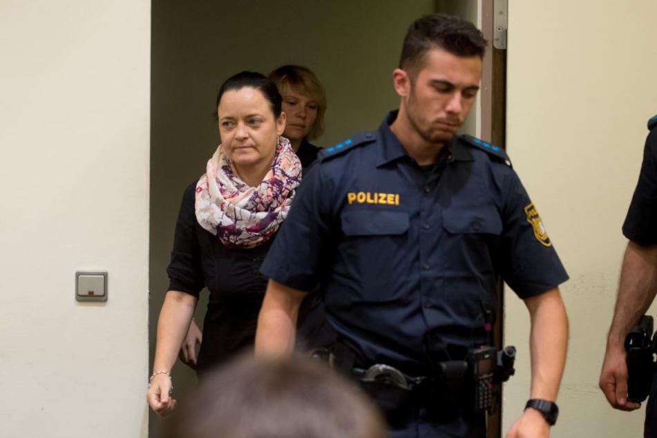 Beate Zschäpe am Mittwoch im Oberlandesgericht in München.