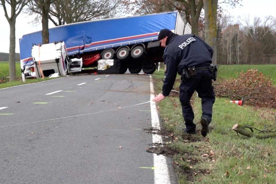 Die Polizei sicherte die Unfallstelle.