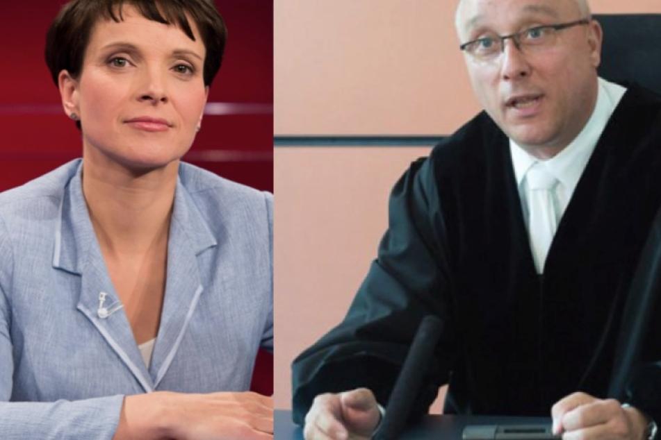 Kamen auf Platz 1 und Platz 2: Frauke Petry und der Dresdner Richter Jens Maier.