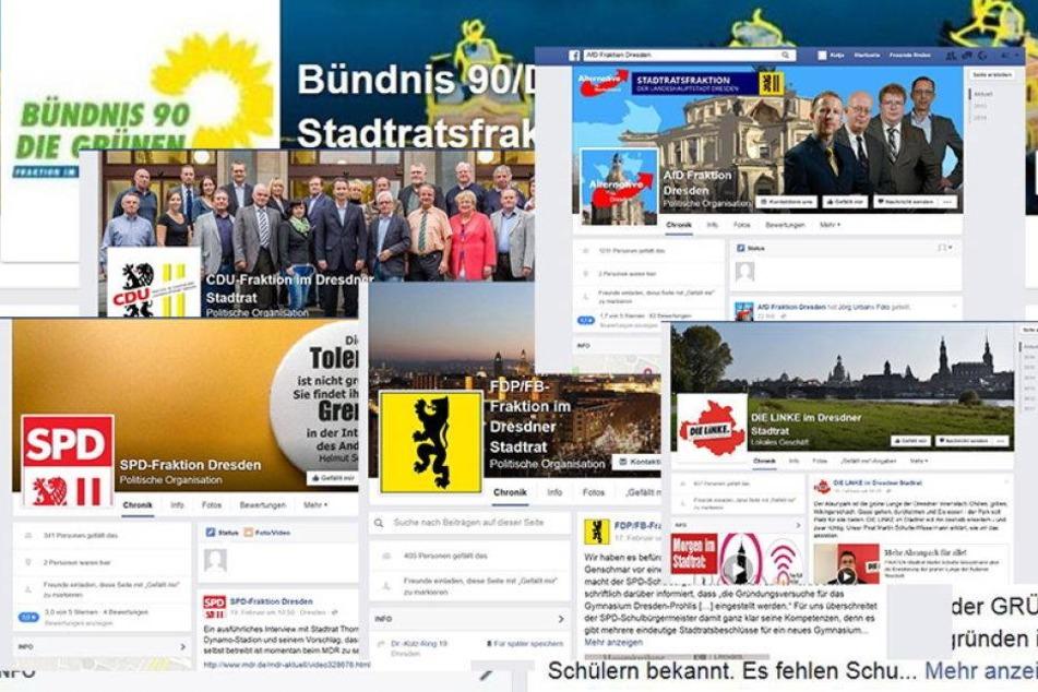 So sind Dresdens Parteien im Netz unterwegs
