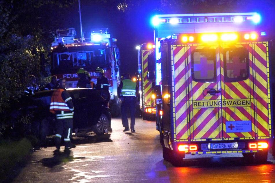 Schwerer Unfall in Münster am Sonntagabend: Der Rettungsdienst war mit fünf Krankenwagen und einem Notarztwagen im Einsatz.